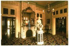 Belmont Mansion - Front Hall, Nashville, Tennessee:  This 1850 Italian villa style mansion was built by Adelicia Acklen, one of the wealthiest American women in the mid 1800's.  Today the mansion sits on the campus of Belmont University.