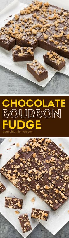 Make something special for the bourbon lover in your life. This rich Dark Chocol… Make something special for the bourbon lover in your life. This rich Dark Chocolate Bourbon Fudge recipe might just be some of the best fudge you've ever had! Fudge Recipes, Candy Recipes, Sweet Recipes, Baking Recipes, Cookie Recipes, Dessert Recipes, Chocolate Bourbon, Chocolate Desserts, Chocolate Bars