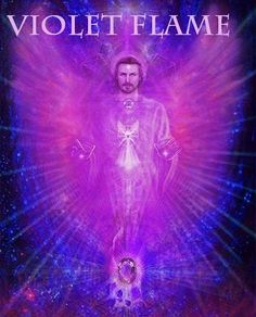Invocation for Archangel Zadkiel. Archangel Zadkiel 'please bathe me in your violet flame to help with any transformation of stuck energies and to help with my spiritual growth' Thank you Saint Germain, Corps Astral, Transmutation, Archangel Zadkiel, Les Chakras, I Believe In Angels, Ascended Masters, Divine Light, Angels Among Us