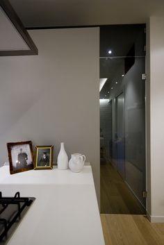 Loft CF #apartmentin in Rome- Project by Manuela Tognoli   #architettura #interiordesign #loft #industrial #style #glassdoor