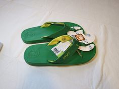 Men's Ocean Minded flip flops thongs sandals 9 M9 durbo kelly green yellow OM159 #OceanMinded #flipflops