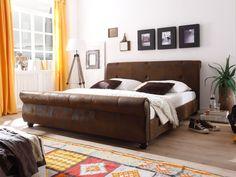 Polsterbett Catana 180x200 Braun Vintage Design Wohnraum, Schrank, Braun  Werden, Schlafzimmer,