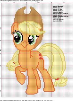 Apple Jack Cross Stitch Pattern by ~AgentLiri on deviantART  My Little Pony