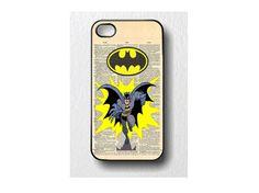 Batman Iphone Case 4  4s GoldPrint Design on Etsy, $14.00