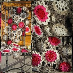Would LOVE to make this scarf for my mum or my friend Jacque (tutorial for Japanese flower pattern)