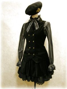 Military style lolita coords