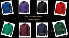 Monogrammed Men's Nylon Wind Shirts by DesignsbyDaffy on Etsy, $32.95