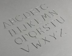 DIY: wire letters --- Cava typography (Lettering) by Lo Siento Studio, Barcelona Calligraphy Letters Alphabet, Typography Alphabet, Cursive, Typo Design, Typography Design, Graphic Design, Alphabet In Different Fonts, Sign Writing, Letters And Numbers
