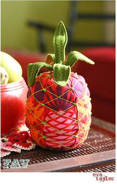 Pineapple pincushion by Fresh and Vintage