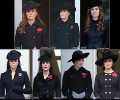 7 years of Kate's Remembrance Sunday style. #duchessofcambridge #katemiddleton #katemiddletonstyle #katemiddletonfashion #royalstyle #royalty #whatkatewore via ✨ @padgram ✨(http://dl.padgram.com)