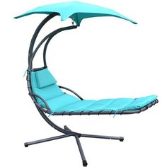 Newacme LLC MCombo Hanging Chaise Lounger Chair with Cushion Color: Teal