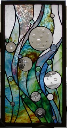 OCEAN SWAY STAINED GLASS PANEL More