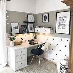When your workplace is just GOALS! ▫️▫️▫️ If you like that Funky Arm Chair, check it out at our store or… Home Office Space, Home Office Decor, New Living Room, My New Room, Home Bedroom, Bedroom Decor, Nordic Interior Design, Home Room Design, Deco Design