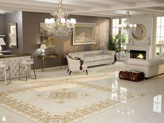 Salon - Styl Glamour - Ceramica Promat