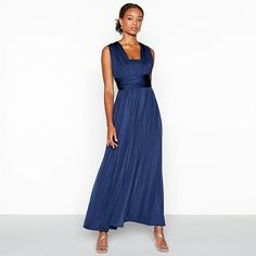 Find Bridesmaid, blue from the Womens department at Debenhams. Shop a wide range of Dresses products and more at our online shop today. Blue Bridesmaids, Blue Bridesmaid Dresses, High Neck Dress, Formal Dresses, Wedding, Shopping, Women, Navy