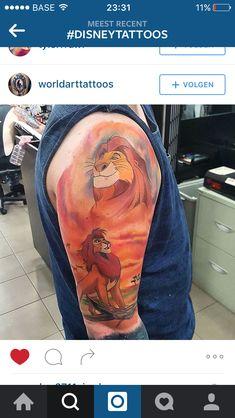 Gorgeous lion king tattoo