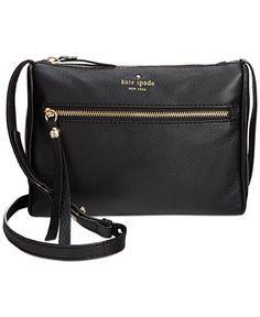 kate spade new york Cobble Hill Cayli Crossbody - kate spade new york - Handbags & Accessories - Macy's Mini Crossbody Bag, Leather Crossbody, Handbag Accessories, Cross Body Handbags, Fall Outfits, Kate Spade, Bling, Purses, Shopping