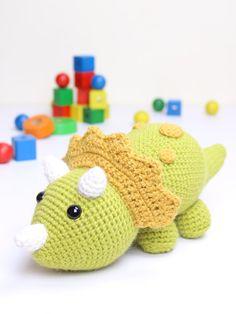 Crochet pattern  Tuki the Triceratops Dinosaur by Tremendu