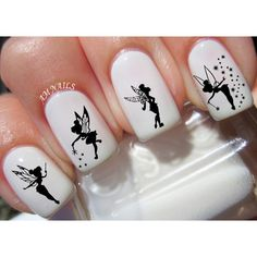 50 Disney Nail Decals ❤ liked on Polyvore featuring beauty products, nail care, nail treatments and disney
