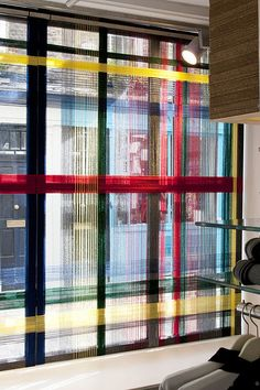 """Fred Perry, """"the rope was used to build a pattern,forming a tartan giant in the window"""", pinned by Ton van der Veer"""