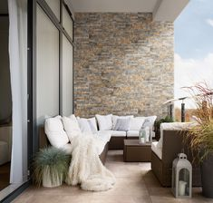 Tiled walls aren't limited to the bathroom or kitchen. Use a décor wall in a cladding design to create a stunning feature wall on your patio. All the beauty of natural stone with a finish that is durable and easy to clean, like the Lekwa Cladding wall tile. #home #homedecor #homestyle #interiordesign #homegoals #trendyhome #featurewall #decortiles #cladding #patio #patioliving Cladding Design, Wood Cladding, Feature Walls, Outdoor Furniture Sets, Outdoor Decor, Wood Canvas, Trendy Home, Wall Tiles, White Ceramics