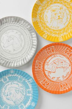 for the dog-lover: Handsome Dorian Of Wye Plate $7.95 each (same goes for these. such a cheerful palette)