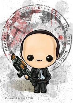Agente Phil Coulson #avengers #kawaii #cute #nikochancomics