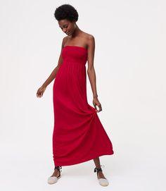 loft red maxi dress