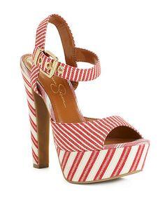 Red stripe, navy stripe, or orange stripe...I think I'll take red.