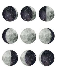64 Ideas painting moon phases