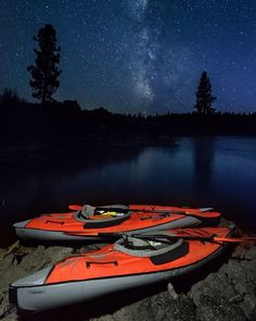 Photo by @jonathankingston Night fell and the milky way rose over the glassy waters of the Deschutes river.  Our unplanned paddle under the stars was the prize at the end of this exquisite indian summer day in central Oregon.  @natgeocreative @natgeoadventure by natgeotravel