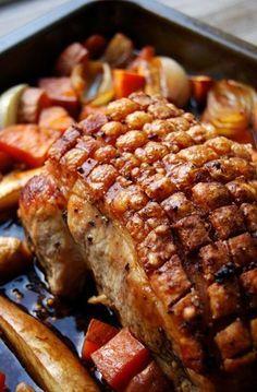 BAYERISCHER SCHWEINEBRATEN aka KRUSTENBRATEN (beer-roasted pork) [Germany, Bavaria] [eatinmykitchen]
