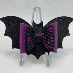 Vampire Bat Hair Bow SVG Halloween Bow Template Stacked   Etsy Bat Silhouette, Halloween Hair Bows, Bow Template, Vampire Bat, Glitter Canvas, Ice Princess, Silhouette Designer Edition, Bat Wings, Flower Petals