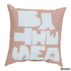 By The Sea Indoor/Outdoor Decorative Throw Pillow