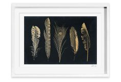 Oliver Gal 'Corinthian Feathers' Canvas | Clean-Line Design | One Kings Lane