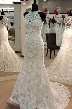 Sleeveless Wedding Dress, Wedding Dresses 2018, Wedding Dress Lace, Mermaid Wedding Dress #Wedding #Dresses #2018 #Sleeveless #Dress #Mermaid #Lace #WeddingDresses2018 #MermaidWeddingDress #WeddingDressLace #SleevelessWeddingDress