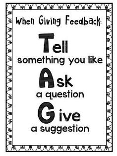 Most teachers are skilled at giving feedback. Do your students know how to give one another effective feedback? Let's teach them. Teaching Writing, Teaching Strategies, Teaching Resources, Persuasive Writing, Teaching Ideas, Leadership Activities, Homeschooling Resources, Instructional Strategies, Opinion Writing