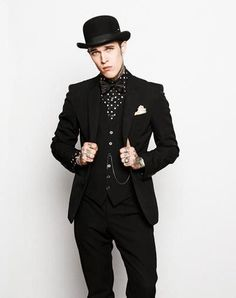 And more of men's fashion with that distinctive dark quality by the tattoo artist James Edward Quaintance