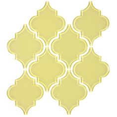 This stunning tile offers intricately detailed patterns on glass. It is available in a host of colors.