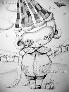 monkey drawing 0 by pinkytoast