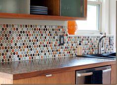 timeless tile backsplash | Glass mosaics make a striking backsplash. They come in a multitude of ...
