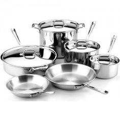 Kitchen Aid Products Cookware Set Stainless Steel Stainless Steel Cookware Cookware Set