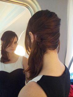 tutoriel coiffure pour cheveux long : les cheveux sur le côté