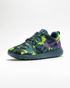 Nike Roshe One Premium Plus WMNS-Mid Teal Camo-1