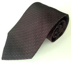 Paul Fredrick Neck Tie Purple Black White Yellow Polka Dot 100% Italian Silk #PaulFredrick #NeckTie
