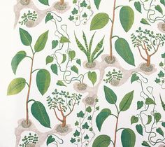 I think there is a Josef Frank revival going on. I keep seeing his prints everywhere and I gotta admit. Josef Frank, Textures Patterns, Print Patterns, Floral Patterns, Fabric Patterns, Textiles, Fabric Wallpaper, Wallpaper Patterns, Scandinavian Design