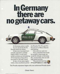 Porsche #vintage #brilliant #headline #print #ad