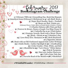 #WishfulWonder | February 2017 Bookstagram Challenge