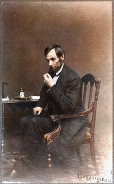 Taken by Matthew Brady (who was almost legally blind), this may be the only candid shot of Abraham Lincoln. Taken by Matthew Brady (who was almost legally blind), this may be the only candid shot of Abraham Lincoln. American Presidents, American Civil War, American History, Abraham Lincoln, Colorized Photos, Civil War Photos, Interesting History, Before Us, World History