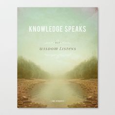 Knowledge Speaks Stretched Canvas by Brianna Lock - $85.00